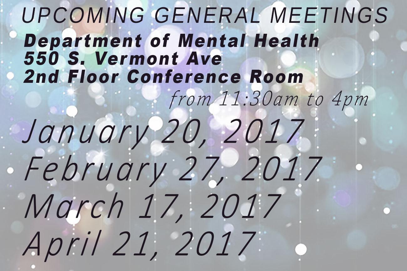 Next Meeting dates
